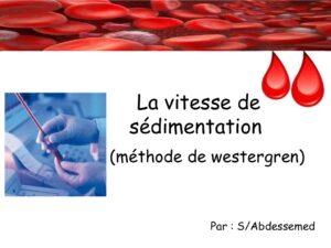 Vitesse de sédimentation élevée .PDF