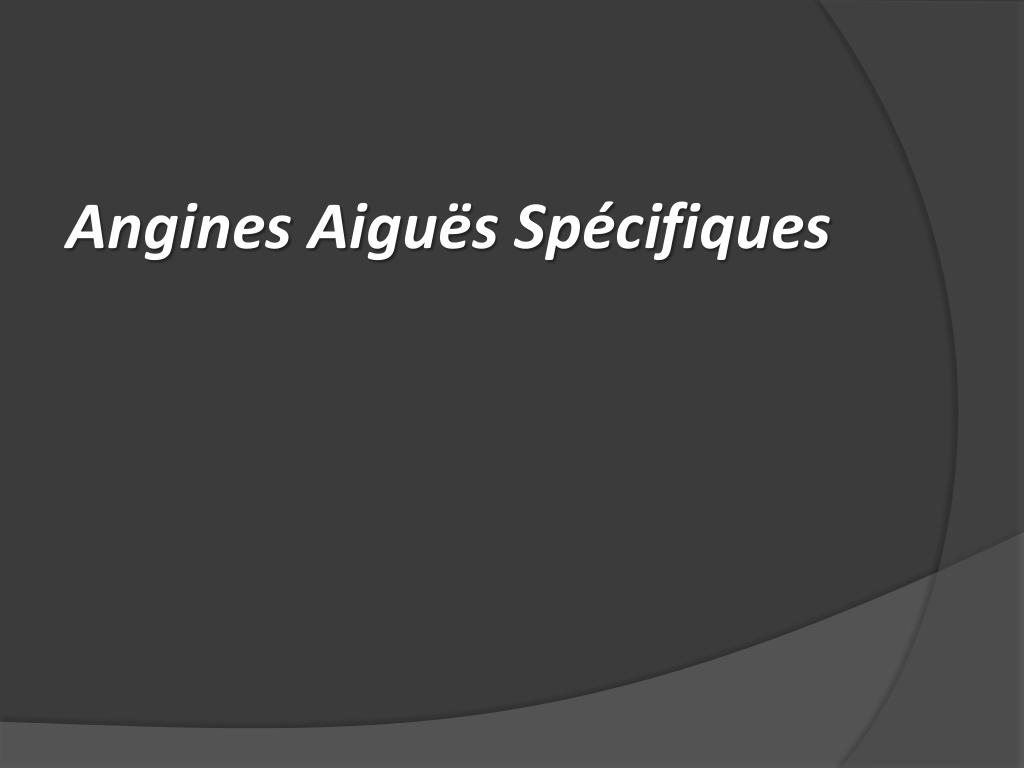 Angine aiguë spécifique .PDF