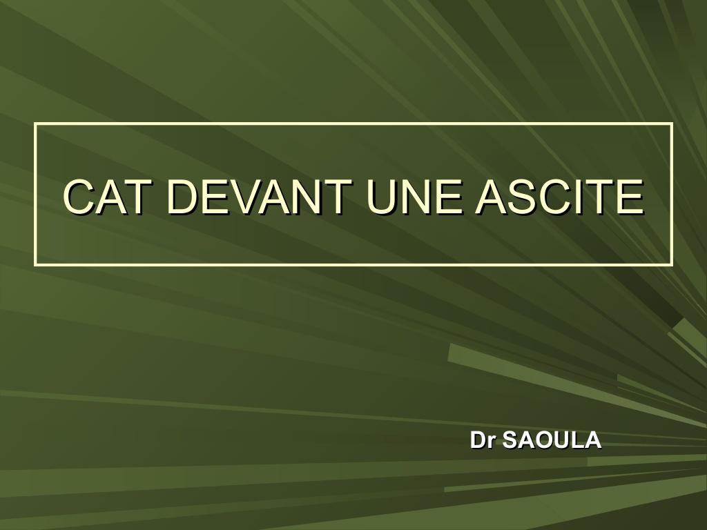 CAT DEVANT UNE ASCITE .PDF