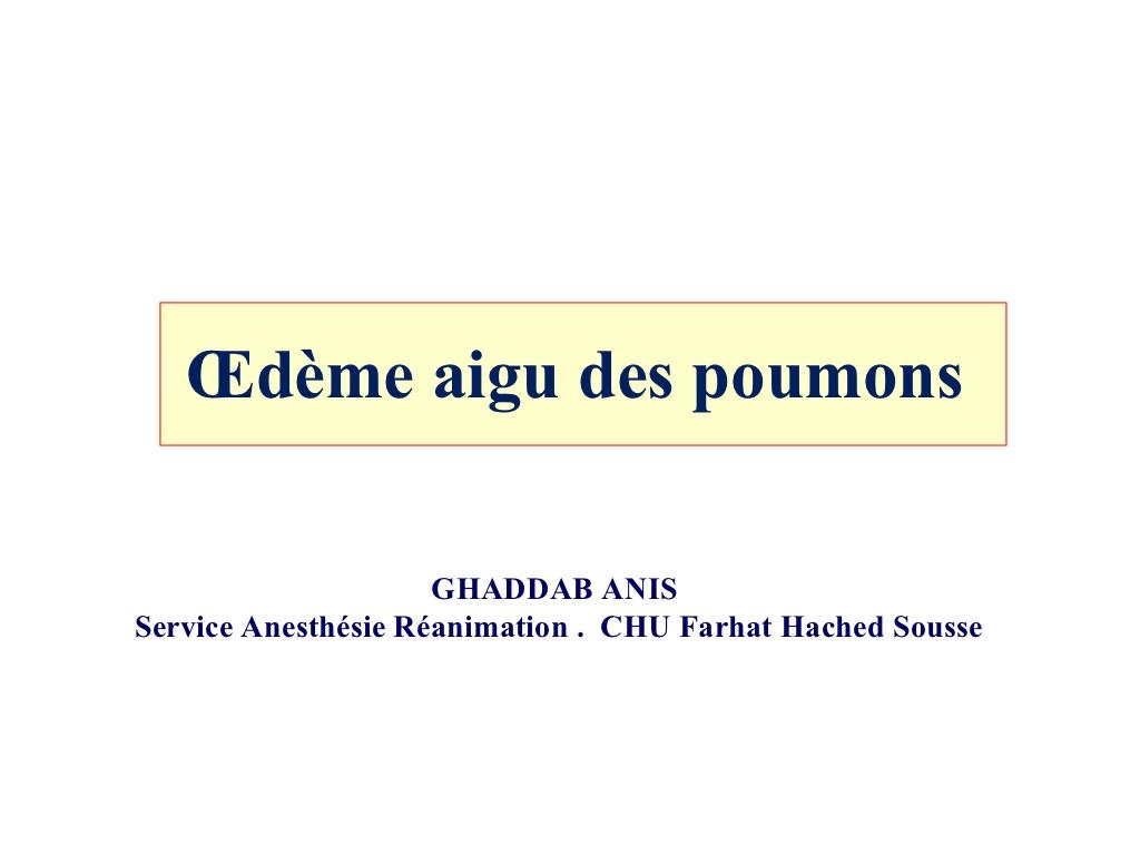 CAT devant l'Œdème aigu des poumons .PDF