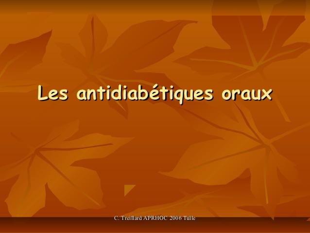 Cours sur les antidiabétiques oraux .PDF