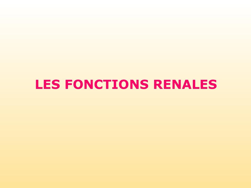 LES FONCTIONS RÉNALES .PDF