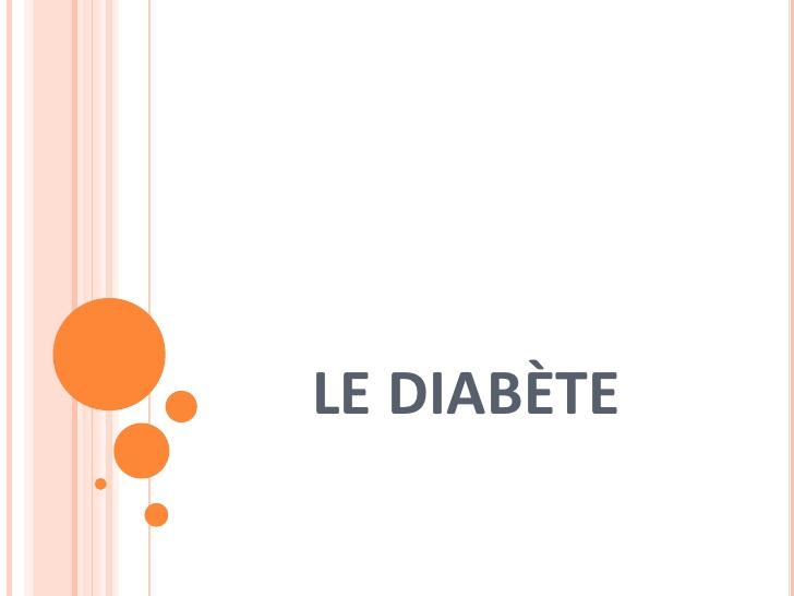 Le diabète .PDF