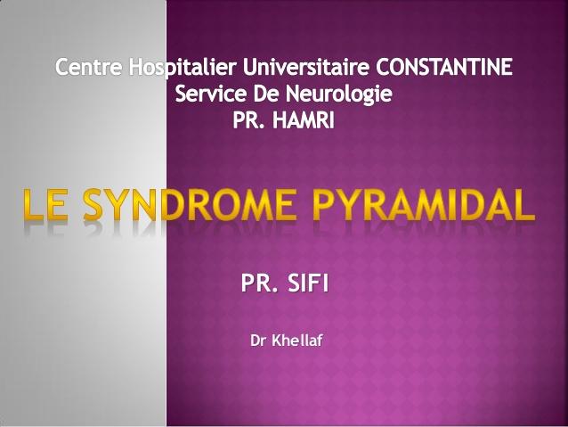 Le syndrome pyramidal .PDF