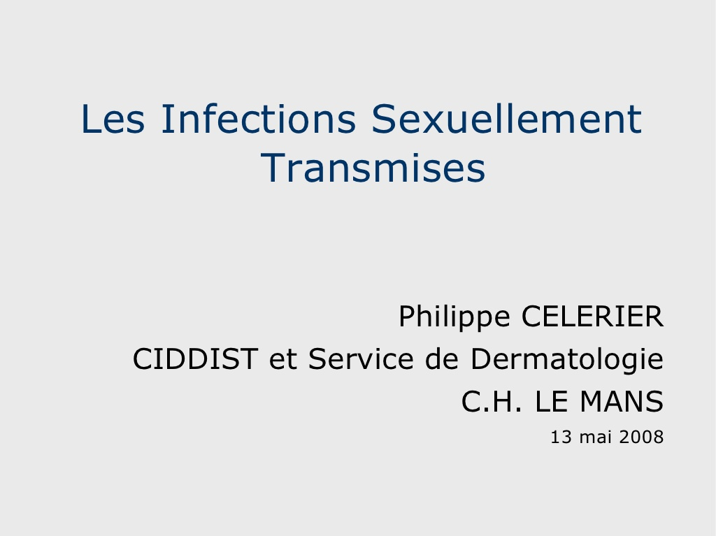 Les Infections Sexuellement Transmises .PDF