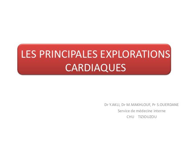 Les principales explorations cardiaques .PDF
