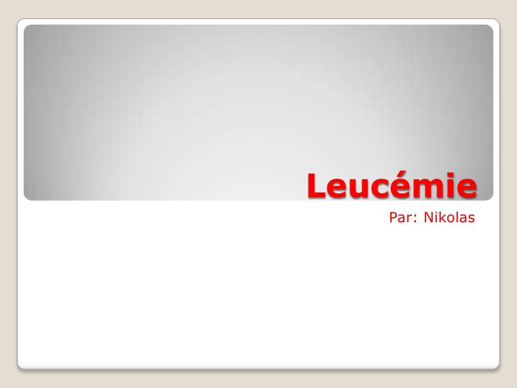 Leucémie .PDF