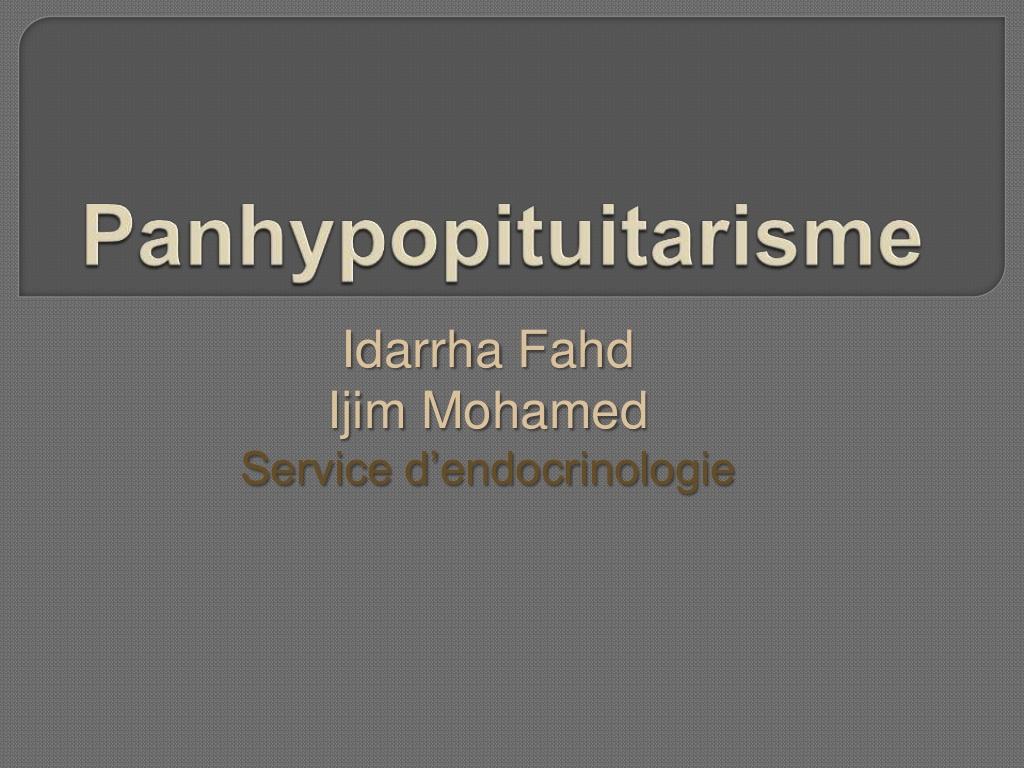 Panhypopituitarisme .PDF