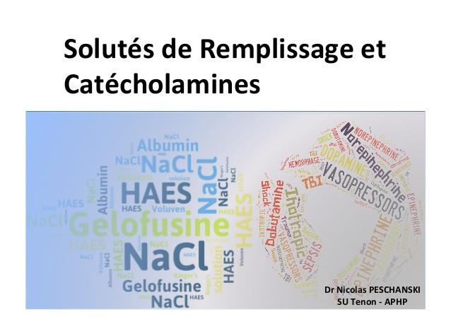 Solutés de remplissage et catécholamines .PDF