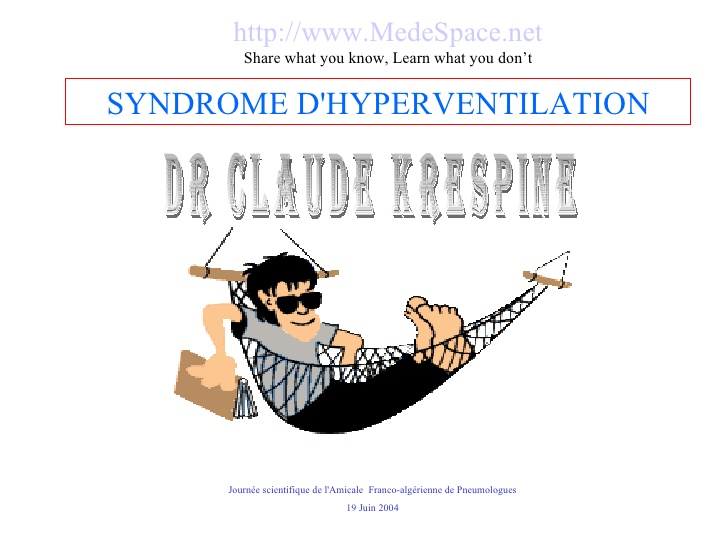 Syndrome d'hyperventilation chronique .PDF