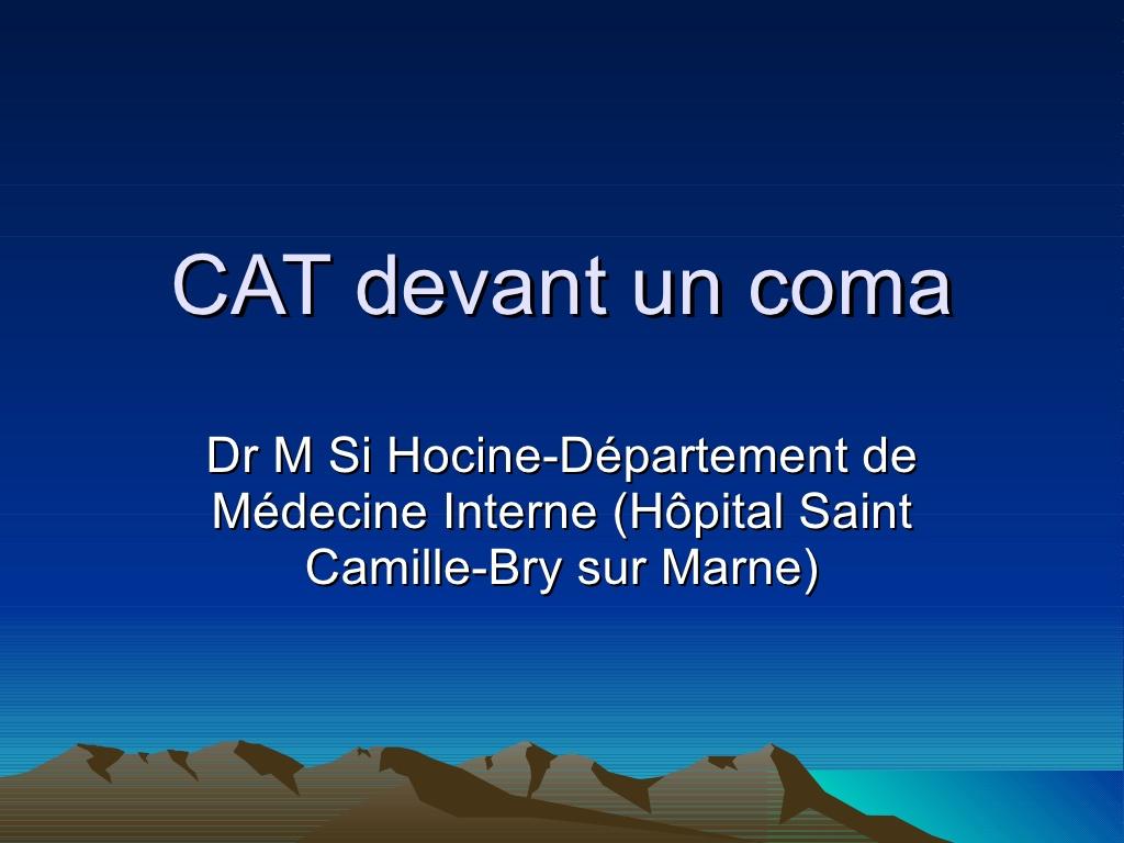 Que faire Devant Un Coma .PDF