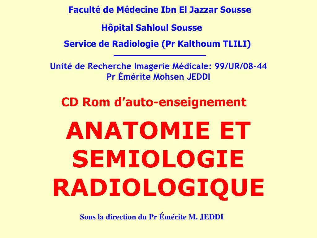 Anatomie et sémiologie radiologique .PDF