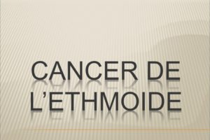 Cancer de l'ethmoïde .PDF