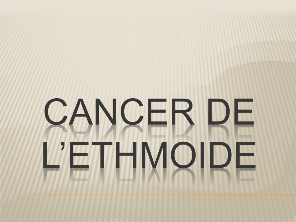 Cancer de l'ethmoïde .PDF