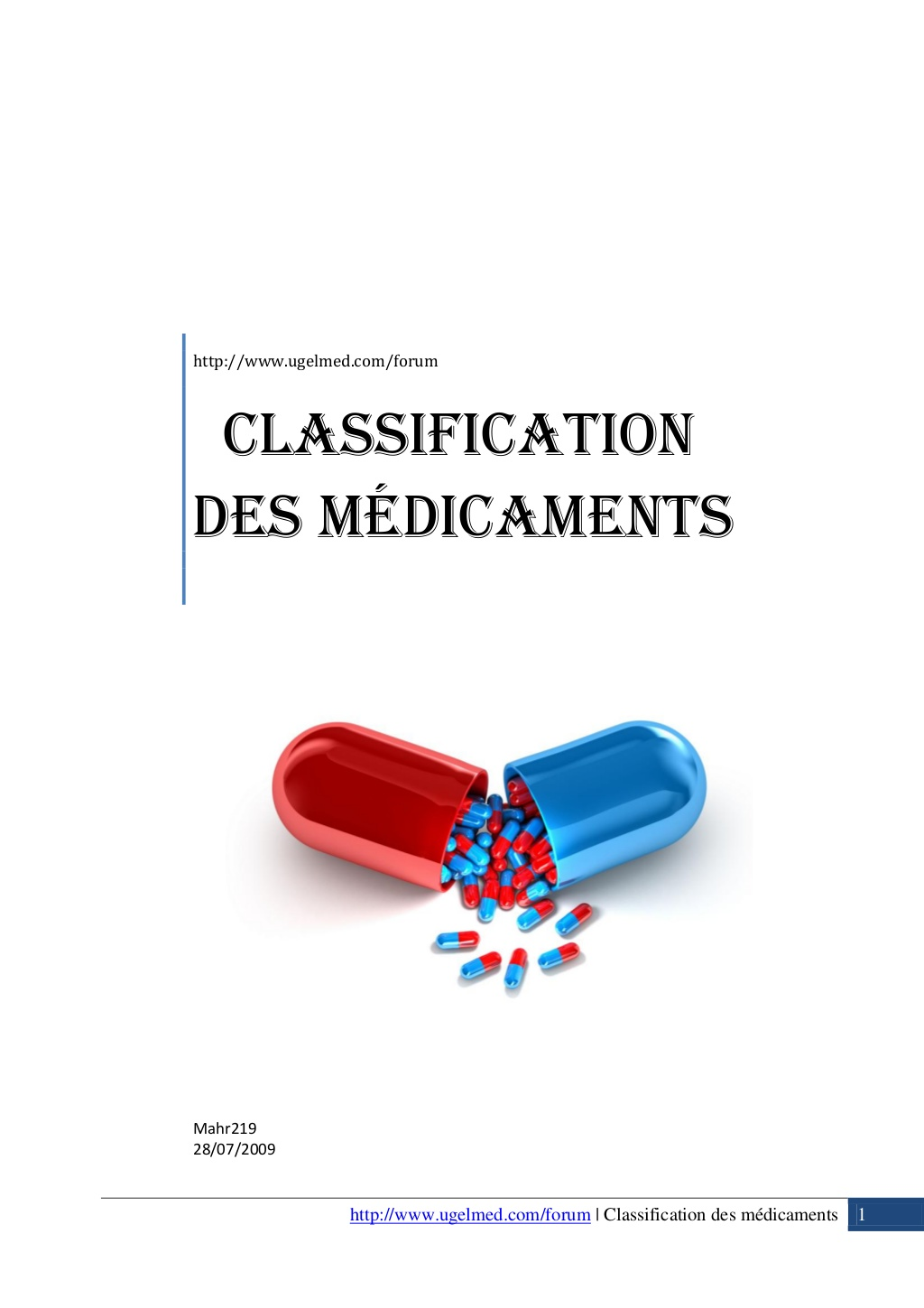 Classification des médicaments .PDF