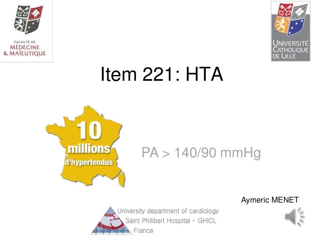 Cours de l'Hypertension artérielle .PDF