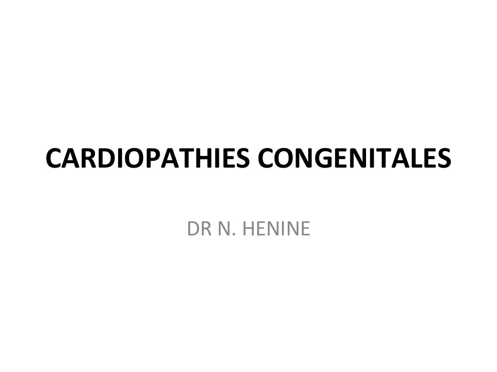 Cours de la cardiopathies congenitales .PDF