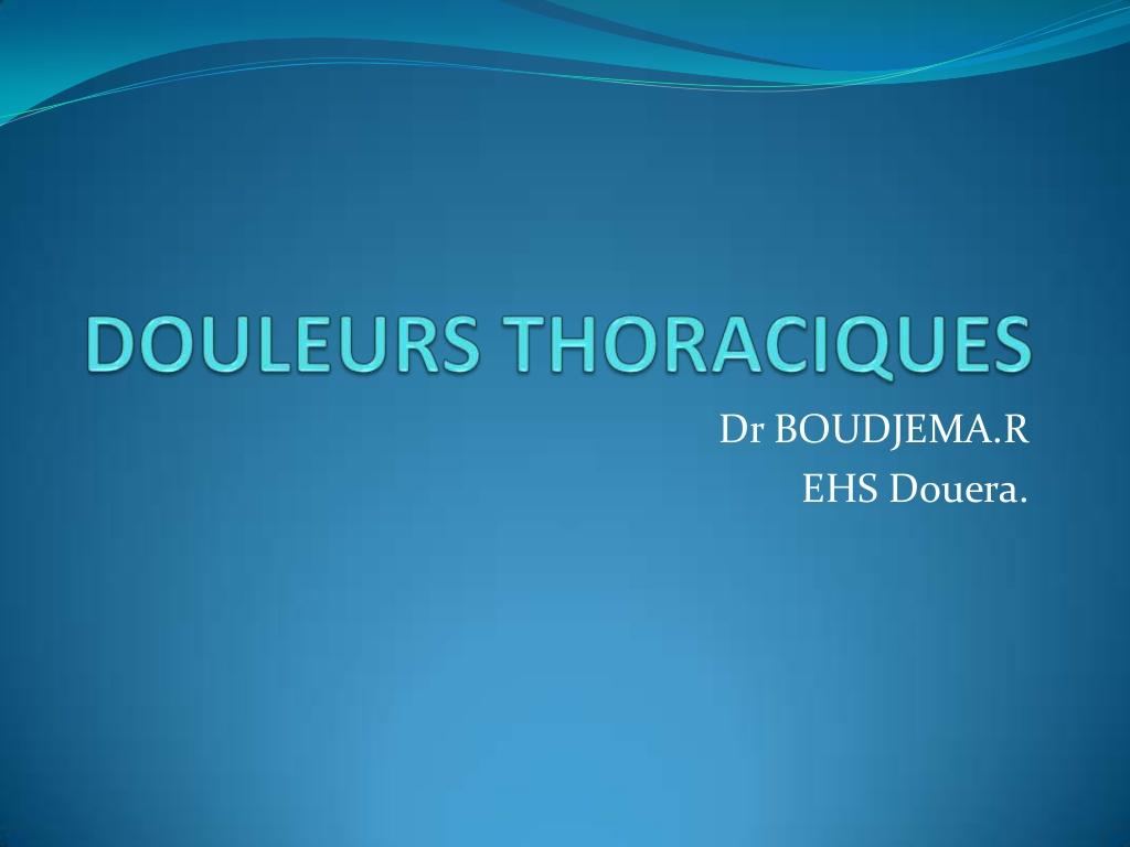Douleurs thoraciques .PDF