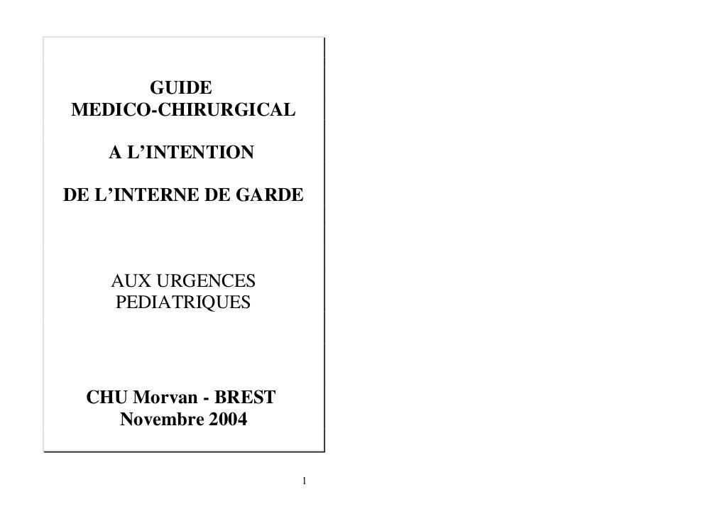 Guide medico chirurgicale a lintention de linterne de garde .PDF