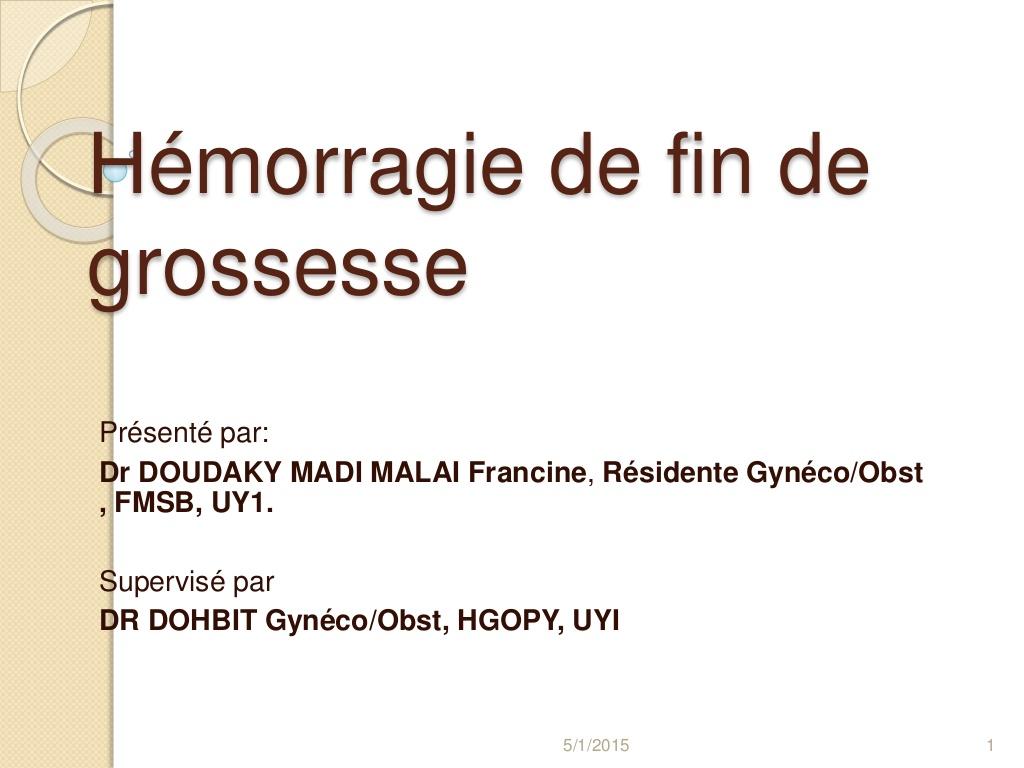 Hémorragie de fin de grossesse .PDF
