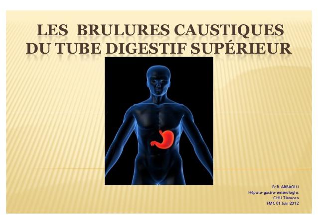 LES BRULURES CAUSTIQUESDU TUBE DIGESTIF SUPÉRIEUR .PDF