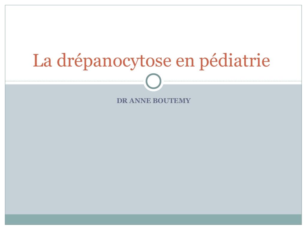 La drépanocytose en pédiatrie .PDF