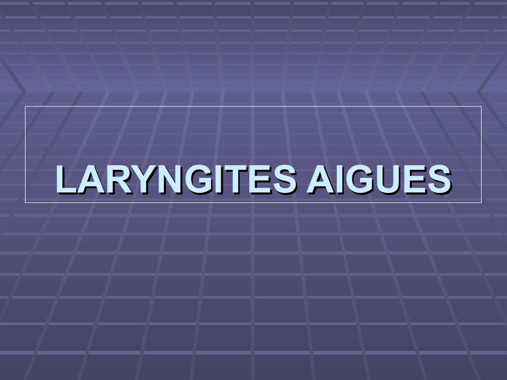 Laryngite aiguë .PDF