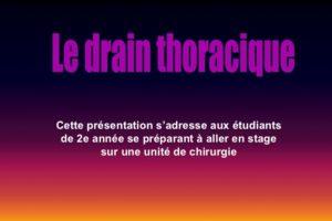 Le drain thoracique .PDF