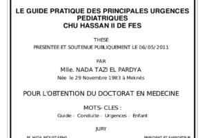 Le guide pratique des principales urgences pédiatriques .PDF