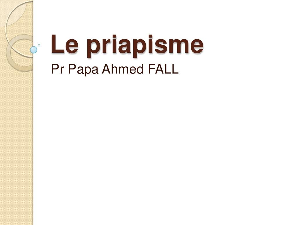 Le priapisme .PDF