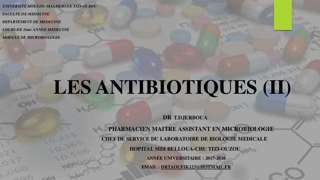 Les antibiotiques (2) .PDF