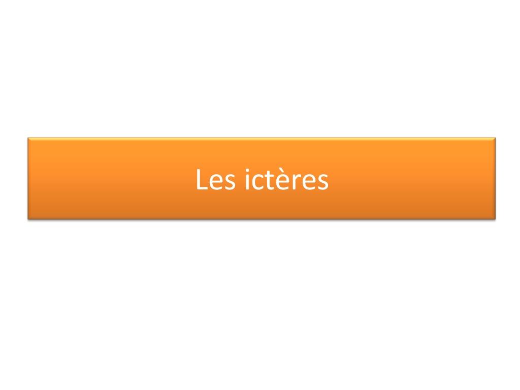Les ictères .PDF