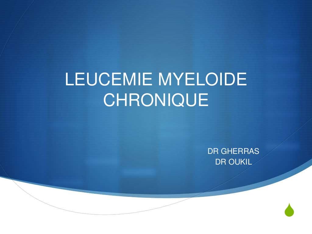 Leucemie myeloide chronique .PDF