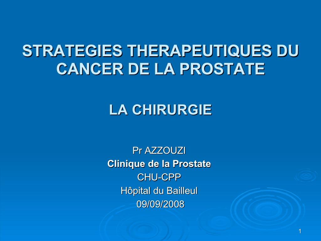 STRATÉGIES THÉRAPEUTIQUES DU CANCER DE LA PROSTATE .PDF