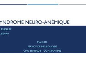 SYNDROME NEURO-ANÉMIQUE .PDF
