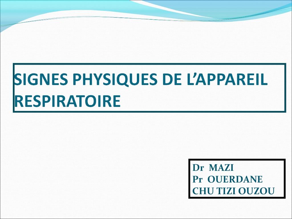 Signe physiques de l'appareil respiratoire .PDF
