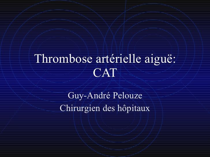 Thrombose artérielle aiguë .PDF