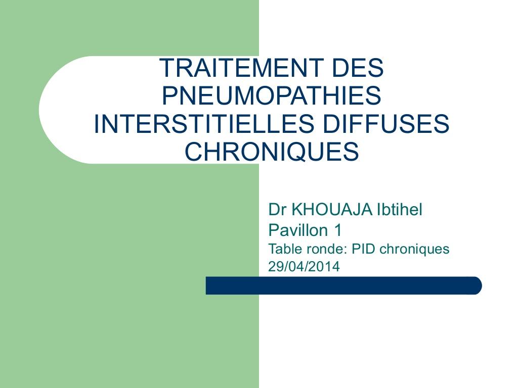 Traitement des pneumopathies interstitielles diffuses chroniques .PDF