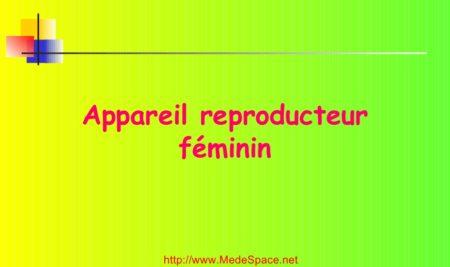 Appareil reproducteur féminin .PDF
