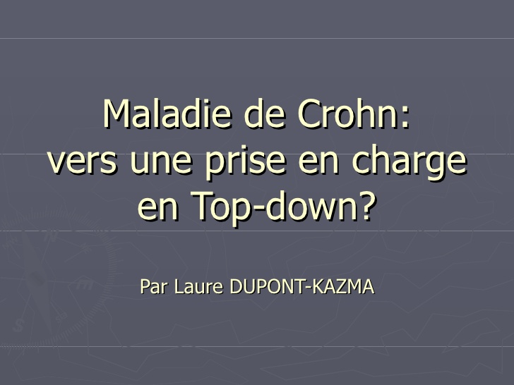 Maladie de Crohnvers une prise en charge en Top-down .PDF