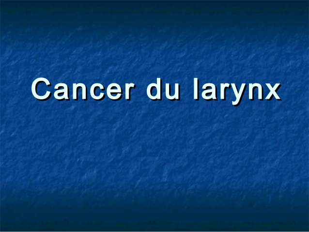Cancer du larynx .PDF