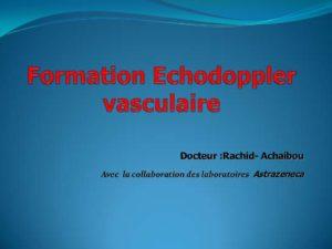 Formation écho doppler vasculaire .PDF