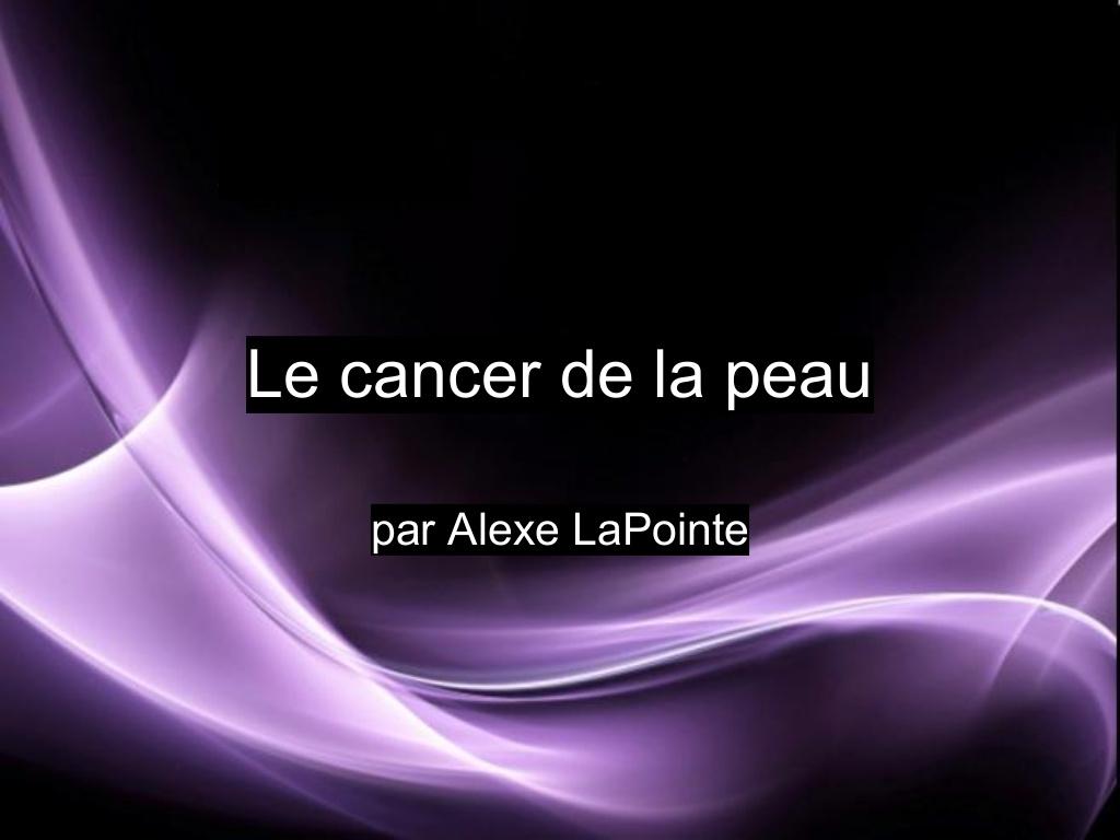 Le cancer de la peau .PDF