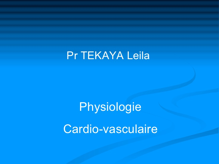 Physiologie Cardio-vasculaire .PDF