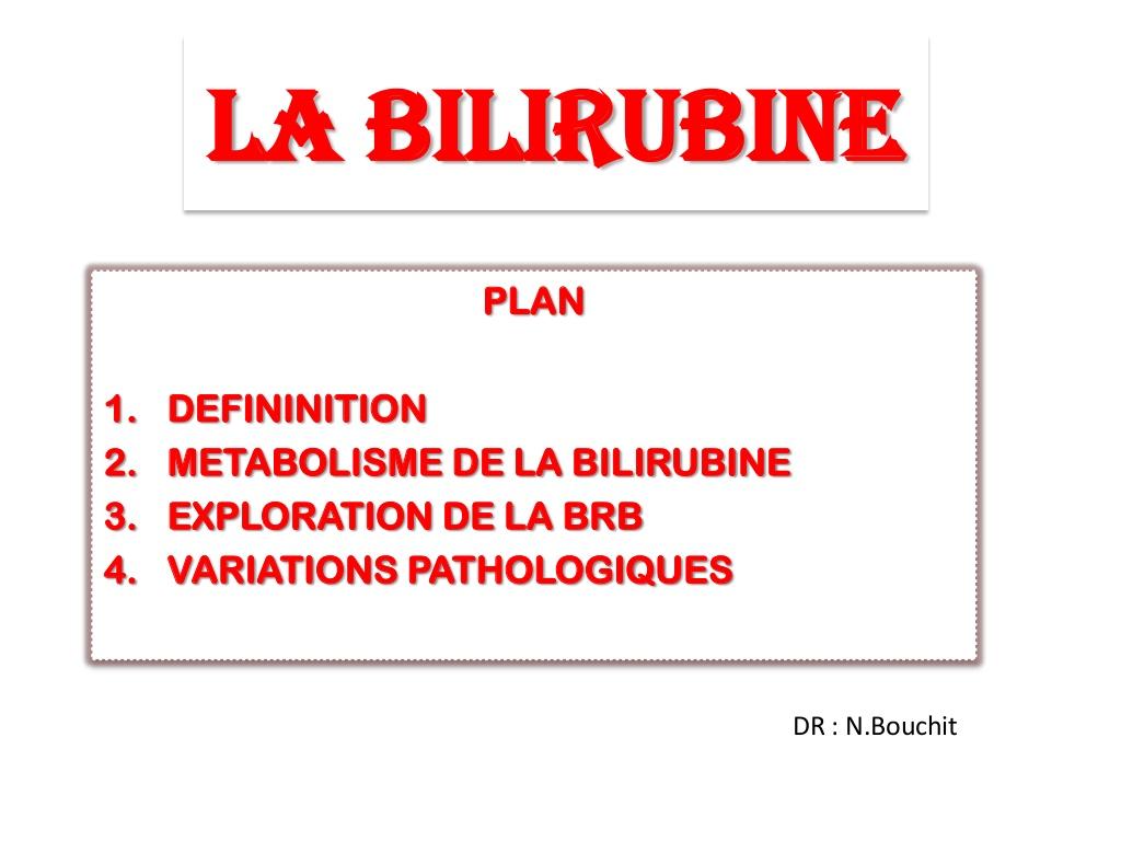 LA BILIRUBINE .PDF