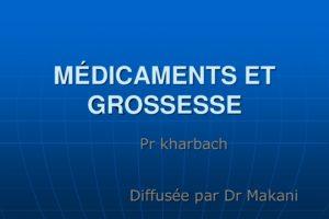 Médicaments et grossesse .PDF