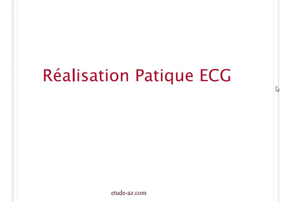 Réalisation Patique ECG .PDF