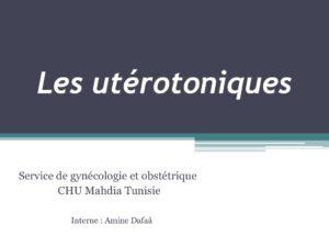 Les utérotoniques .PDF