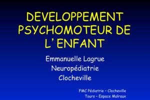 DÉVELOPPEMENT PSYCHOMOTEUR DE L'ENFANT .PDF