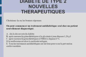 DIABETE DE TYPE 2 NOUVELLES THERAPEUTIQUES .QCM (PDF)